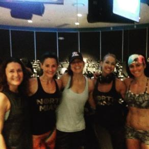 With Flywheel instructor Laurel Burnett and the Badass Ladies from Lululemon Aventura
